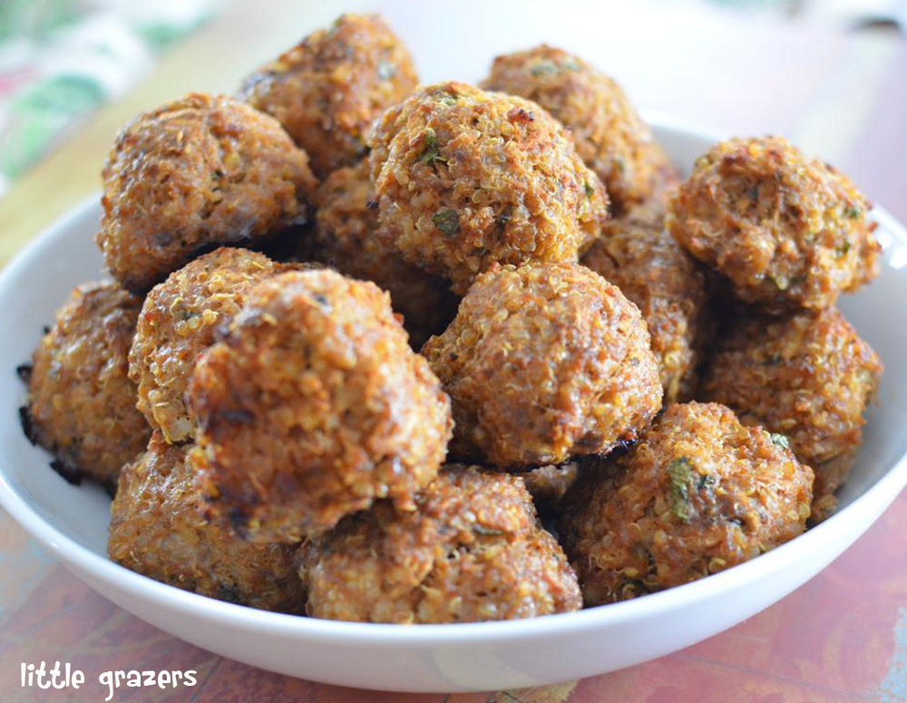 Quinoa little grazers delicious food for little hands beef apple and quinoa balls forumfinder Choice Image