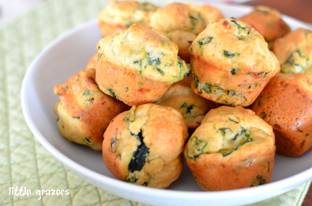 Mini Spinach and Feta Muffins