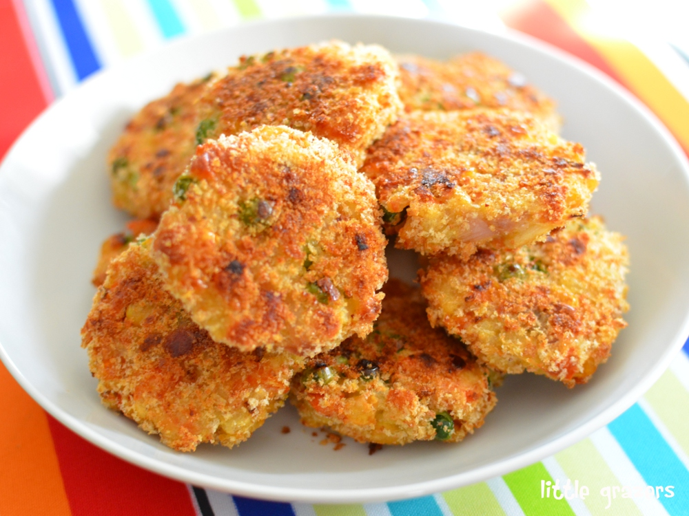Mini Vegetable And Cheddar Patties Little Grazers