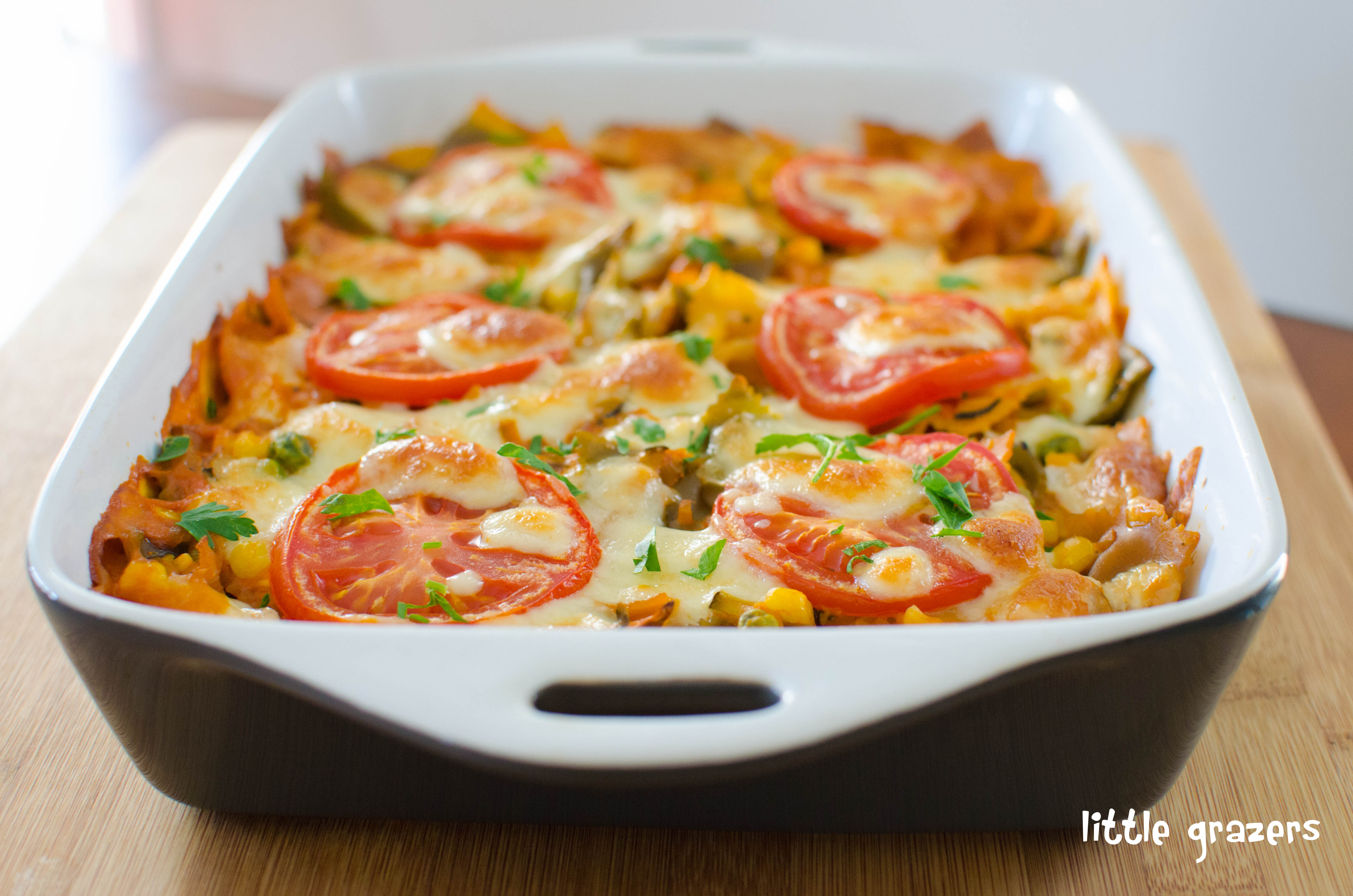 Creamy Vegetable Pasta Bake | Little Grazers - delicious ...