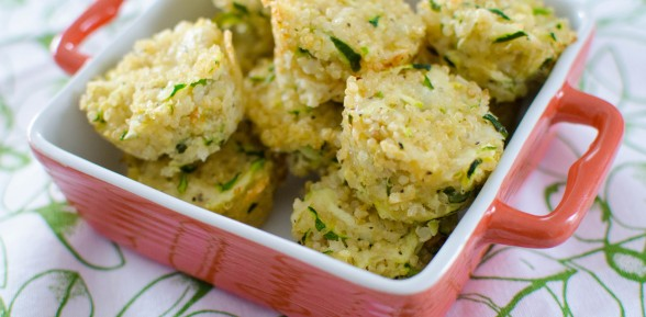 Zucchini and Parmesan Quinoa Bites